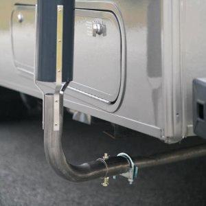 Установка отвода выхлопных газов от генератора
